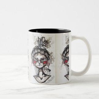 Inktober 2017 Day 2 Two-Tone Coffee Mug