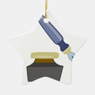 inkwell graphic ceramic star decoration