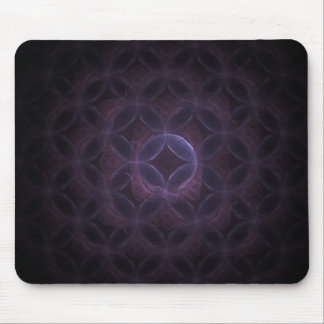 Inkx Purple Abstract Fractal Art Mouse Pad