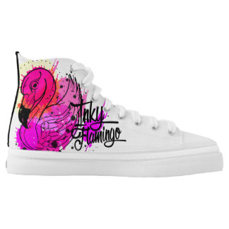 Inky Flamingo High-Tops Printed Shoes