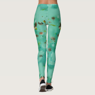 Inky green leggings