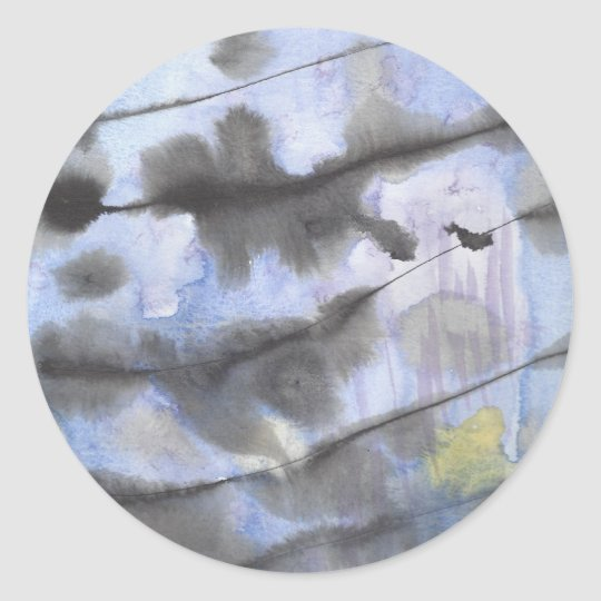 Inky Ocean Classic Round Sticker