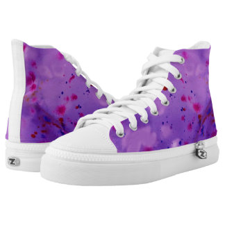 Inky pink high tops