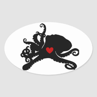 Inky Poo Logo Products Oval Sticker