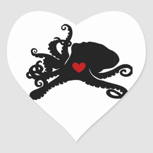 Inky Poo Logo Products Heart Stickers
