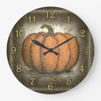 Inky Pumpkin Large Clock