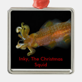 Inky, The Christmas Squid Christmas Ornament