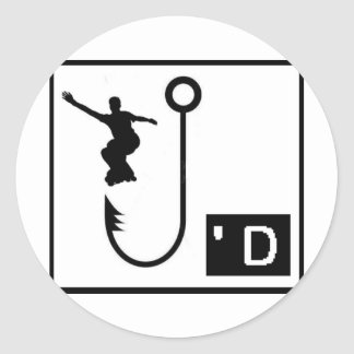 Inline Skate Hooked Sticker