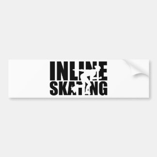 Inline skating bumper sticker