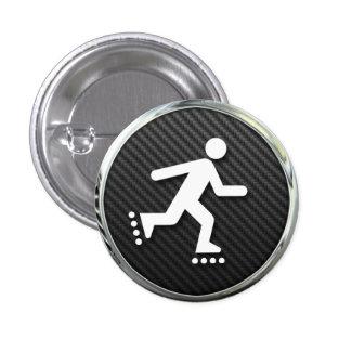 Inline Skating Icon 3 Cm Round Badge