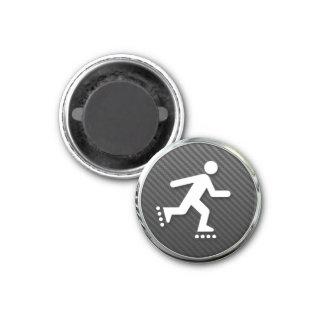 Inline Skating Icon 3 Cm Round Magnet