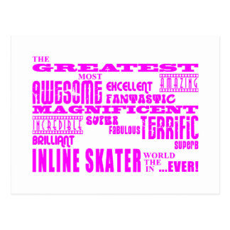 Inline Skating Pink Greatest Inline Skaters Postcard