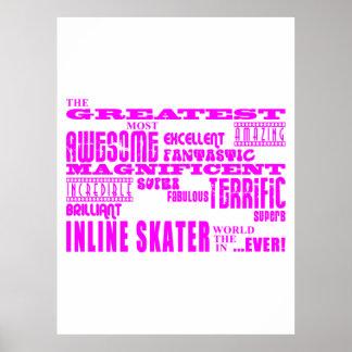 Inline Skating : Pink Greatest Inline Skaters Print