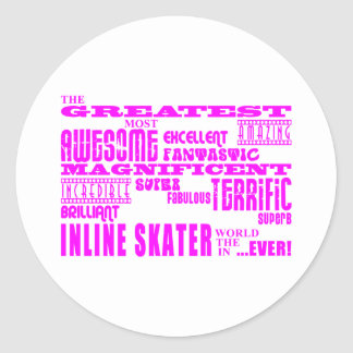 Inline Skating Pink Greatest Inline Skaters Sticker