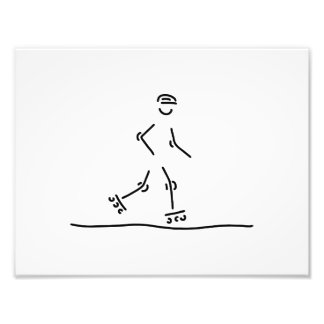 inline skating scooter roller skate photographic print