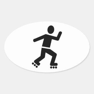 Inline Skating Oval Sticker