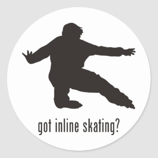Inline Skating Round Sticker
