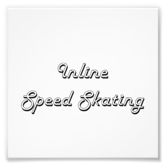 Inline Speed Skating Classic Retro Design Photograph