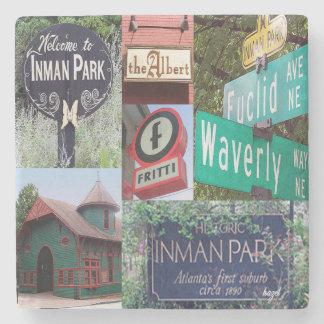 Inman Park, Atlanta Marble Coasters Stone Coaster