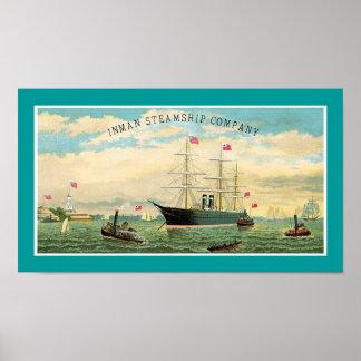 Inman Steamship Company Poster
