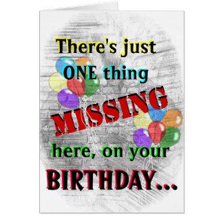 Inmate Birthday Card