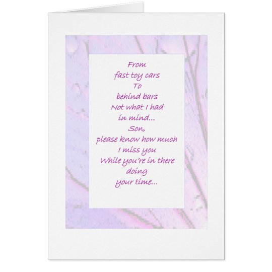 Inmate Son From Mum Card