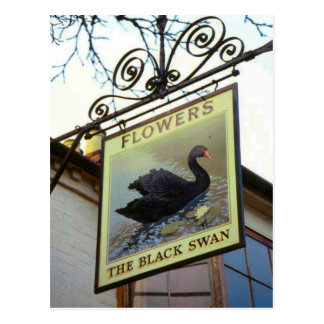 Inn signs of England, The Black Swan Postcard