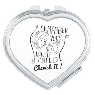 """Inner child"" Compact mirror by ""3Foxes"""