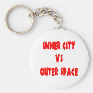 Inner City vs Outer Space Keychain