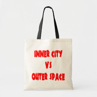 Inner City vs Outer Space Budget Tote Bag