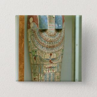 Inner coffin of Djeho, son of Psammetichus, 15 Cm Square Badge