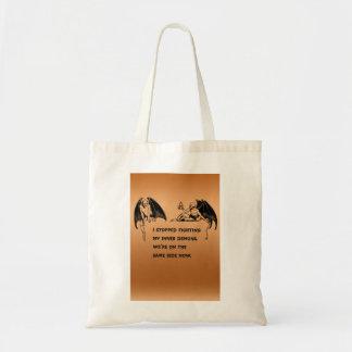Inner demon budget tote bag