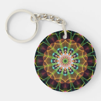 Inner Dream mandala Double-Sided Round Acrylic Key Ring