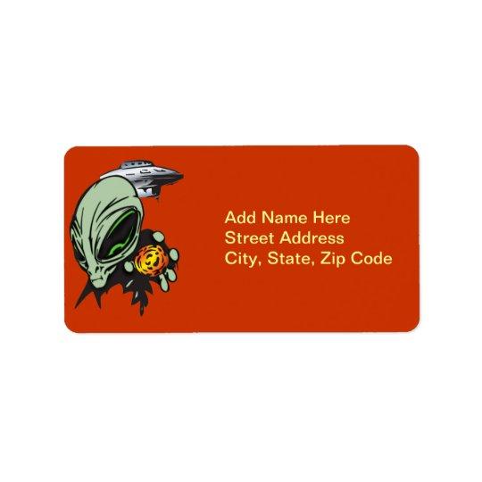 Inner Earth Aliens Address Label