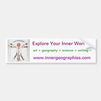 Inner Geographies Bumpersticker Bumper Sticker
