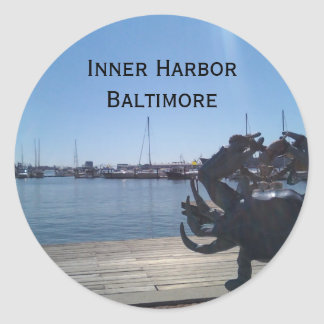 Inner Harbor Classic Round Sticker
