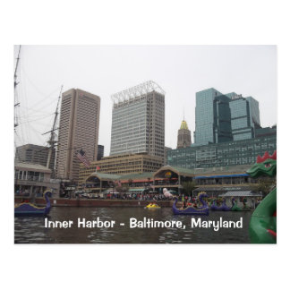 Inner Harbor in Baltimore, Maryland Postcard