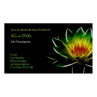 Inner Light l Lotus Abstract Art Business Cards