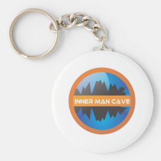 Inner Man Cave Basic Round Button Key Ring