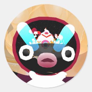 Inner Mind World Dude Round Sticker