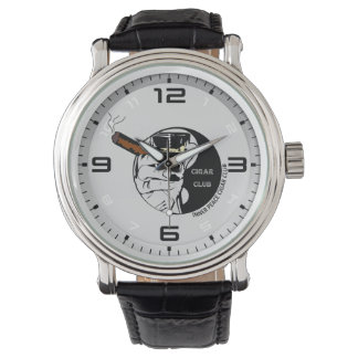 Inner Peace Cigar Club Vintage Leather strap Watch
