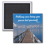 Inner Peace Emerson Inspirational Quote Square Magnet