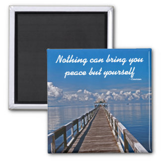 Inner Peace Emerson Inspirational Quote Magnet