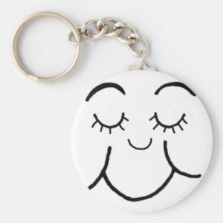 Inner peace face key chain