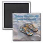 Inner Peace Inspiration motto Ralph Waldo Emerson Square Magnet