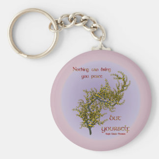 Inner Peace Inspirational Quote Keychain