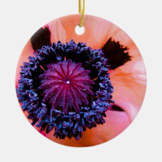 Inner Poppy Round Ceramic Decoration