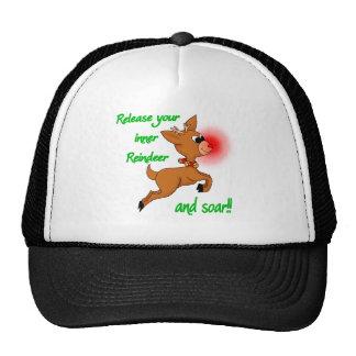 inner reindeer mesh hat