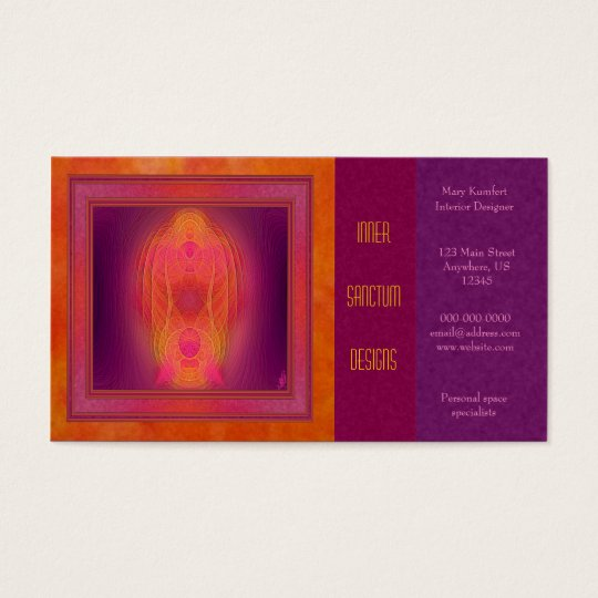 Inner Sanctum Abstract Art Business Card