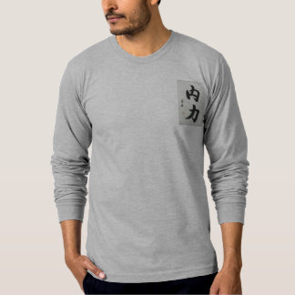 Inner Strength Chinese Caligraphy Long Sleeve Fit T-Shirt
